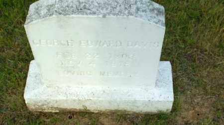 DAVIS, GEORGE EDWARD - Greene County, Arkansas | GEORGE EDWARD DAVIS - Arkansas Gravestone Photos