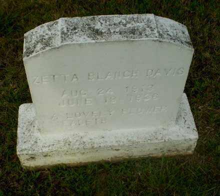 DAVIS, ZETTA  BLANCH - Greene County, Arkansas   ZETTA  BLANCH DAVIS - Arkansas Gravestone Photos