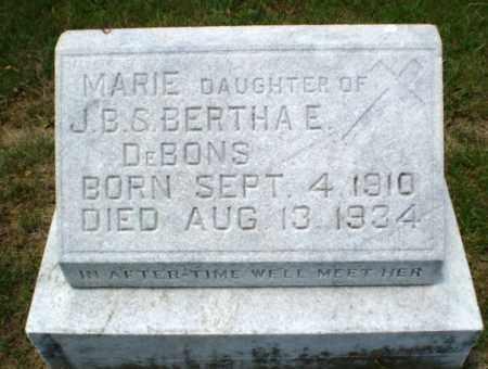 DEBONS, MARIE - Greene County, Arkansas | MARIE DEBONS - Arkansas Gravestone Photos