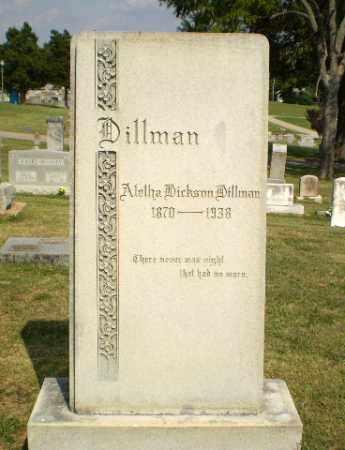 DICKSON DILLMAN, ALETHA - Greene County, Arkansas | ALETHA DICKSON DILLMAN - Arkansas Gravestone Photos