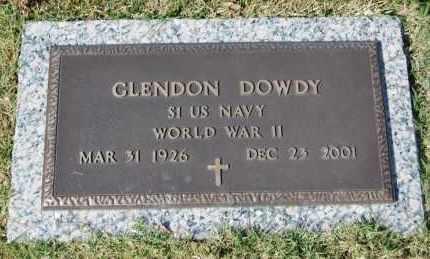DOWDY (VETERAN WWII), GLENDON - Greene County, Arkansas | GLENDON DOWDY (VETERAN WWII) - Arkansas Gravestone Photos