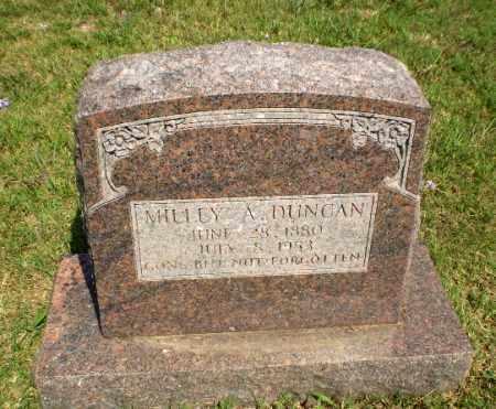 DUNCAN, MILLEY A - Greene County, Arkansas   MILLEY A DUNCAN - Arkansas Gravestone Photos