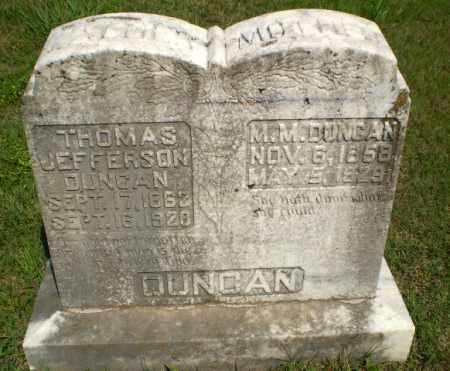 DUNCAN, M.M. - Greene County, Arkansas | M.M. DUNCAN - Arkansas Gravestone Photos