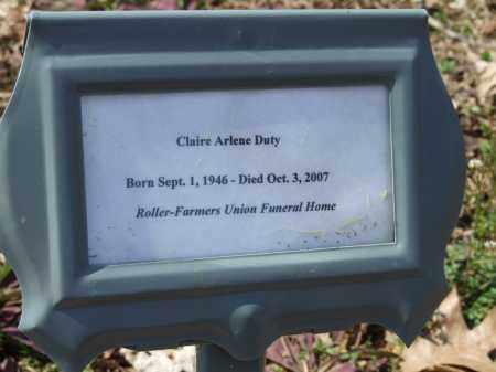 DUTY, CLAIRE ARLENE - Greene County, Arkansas   CLAIRE ARLENE DUTY - Arkansas Gravestone Photos