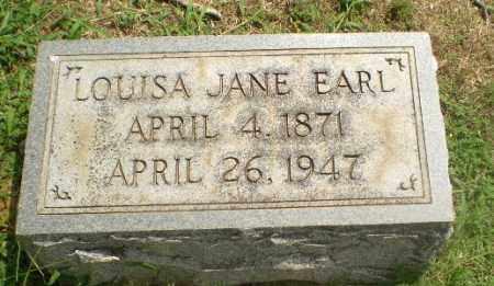 EARL, LOUISA JANE - Greene County, Arkansas | LOUISA JANE EARL - Arkansas Gravestone Photos