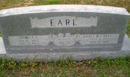 MCCARROLL EARL, HAZEL - Greene County, Arkansas | HAZEL MCCARROLL EARL - Arkansas Gravestone Photos