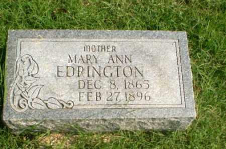 EDRINGTON, MARY ANN - Greene County, Arkansas   MARY ANN EDRINGTON - Arkansas Gravestone Photos
