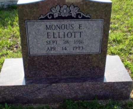 ELLIOTT, MONOUS E. - Greene County, Arkansas | MONOUS E. ELLIOTT - Arkansas Gravestone Photos