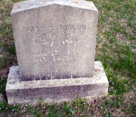 FORKUM, MARY C - Greene County, Arkansas   MARY C FORKUM - Arkansas Gravestone Photos