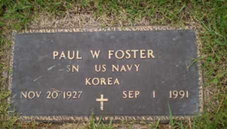 FOSTER  (VETERAN KOR), PAUL W - Greene County, Arkansas | PAUL W FOSTER  (VETERAN KOR) - Arkansas Gravestone Photos