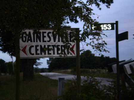 *GAINESVILLE CEMETERY, SIGN - Greene County, Arkansas   SIGN *GAINESVILLE CEMETERY - Arkansas Gravestone Photos