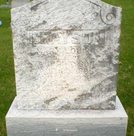 GRAYSON, MARY LOUISA - Greene County, Arkansas | MARY LOUISA GRAYSON - Arkansas Gravestone Photos