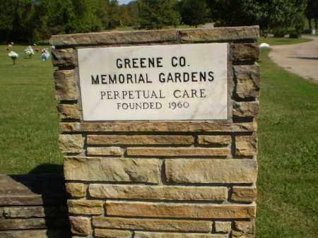 *GREENE COUNTY MEMORIAL GARDEN, ENTRANCE - Greene County, Arkansas | ENTRANCE *GREENE COUNTY MEMORIAL GARDEN - Arkansas Gravestone Photos