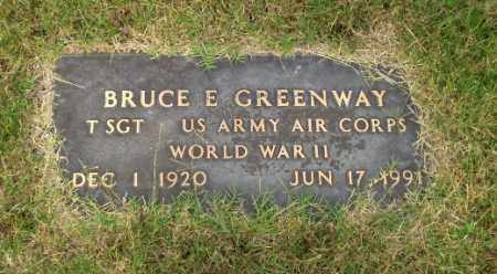 GREENWAY  (VETERAN WWII), BRUCE E - Greene County, Arkansas | BRUCE E GREENWAY  (VETERAN WWII) - Arkansas Gravestone Photos