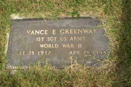 GREENWAY  (VETERAN WWII), VANCE E - Greene County, Arkansas | VANCE E GREENWAY  (VETERAN WWII) - Arkansas Gravestone Photos