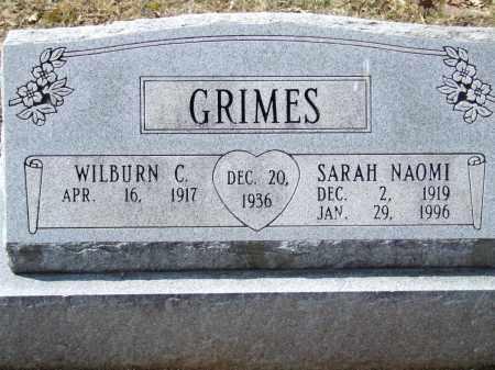 GRIMES, SARAH NAOMI - Greene County, Arkansas | SARAH NAOMI GRIMES - Arkansas Gravestone Photos