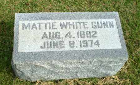 WHITE GUNN, MATTIE - Greene County, Arkansas | MATTIE WHITE GUNN - Arkansas Gravestone Photos