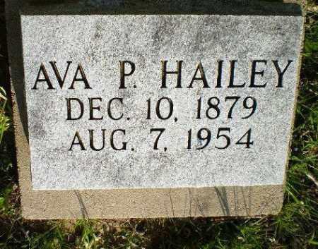 HAILEY, AVA P - Greene County, Arkansas | AVA P HAILEY - Arkansas Gravestone Photos