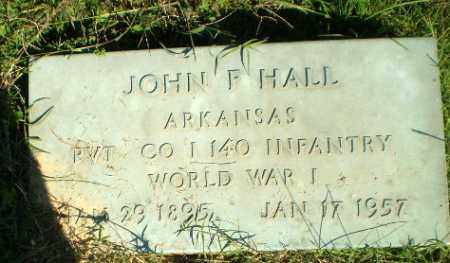 HALL   (VETERAN WWI), JOHN F - Greene County, Arkansas   JOHN F HALL   (VETERAN WWI) - Arkansas Gravestone Photos
