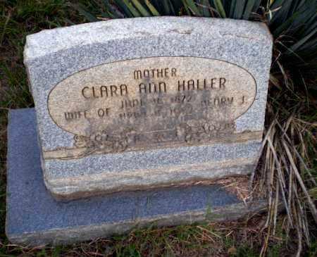 HALLER, CLARA ANN - Greene County, Arkansas | CLARA ANN HALLER - Arkansas Gravestone Photos