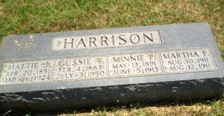 HARRISON, GUSSIE T - Greene County, Arkansas   GUSSIE T HARRISON - Arkansas Gravestone Photos