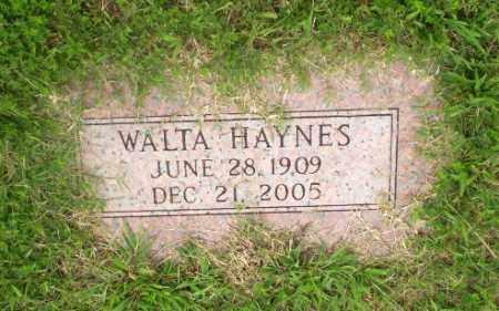 HAYNES, WALTA - Greene County, Arkansas | WALTA HAYNES - Arkansas Gravestone Photos