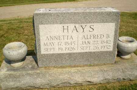 HAYS, ALFRED B - Greene County, Arkansas   ALFRED B HAYS - Arkansas Gravestone Photos