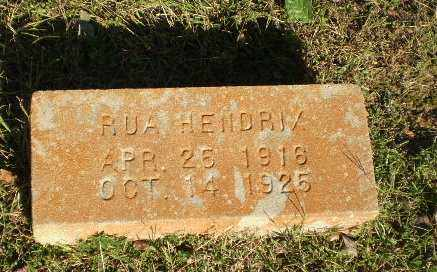 HENDRIX, RUA - Greene County, Arkansas   RUA HENDRIX - Arkansas Gravestone Photos