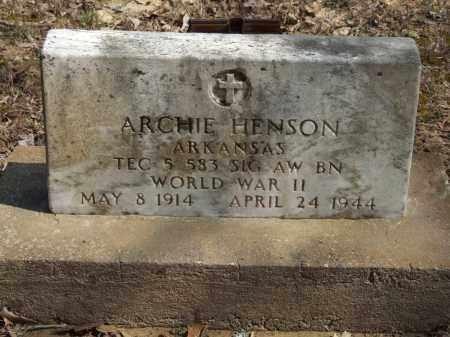 HENSON (VETERAN WWII), ARCHIE - Greene County, Arkansas   ARCHIE HENSON (VETERAN WWII) - Arkansas Gravestone Photos