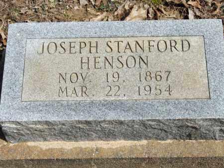 HENSON, JOSEPH STANFORD - Greene County, Arkansas | JOSEPH STANFORD HENSON - Arkansas Gravestone Photos