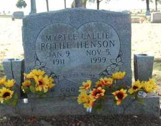 HENSON, ROTHE, MYRTLE CALLIE - Greene County, Arkansas   MYRTLE CALLIE HENSON, ROTHE - Arkansas Gravestone Photos