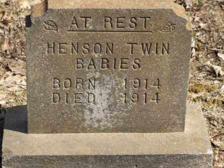 HENSON, TWIN BABIES - Greene County, Arkansas   TWIN BABIES HENSON - Arkansas Gravestone Photos