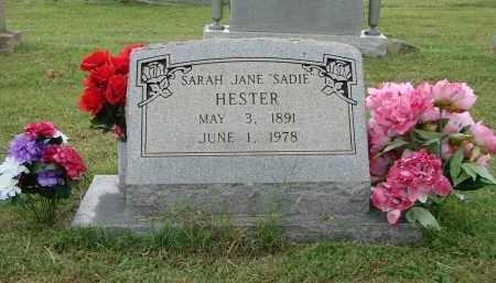 "HESTER, SARAH JANE ""SADIE"" - Greene County, Arkansas | SARAH JANE ""SADIE"" HESTER - Arkansas Gravestone Photos"