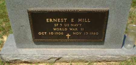 HILL  (VETERAN  WWII), ERNEST E - Greene County, Arkansas | ERNEST E HILL  (VETERAN  WWII) - Arkansas Gravestone Photos