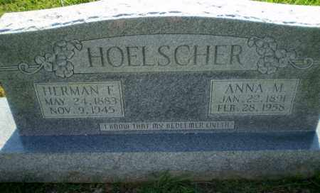 HOELSCHER, HERMAN F - Greene County, Arkansas | HERMAN F HOELSCHER - Arkansas Gravestone Photos
