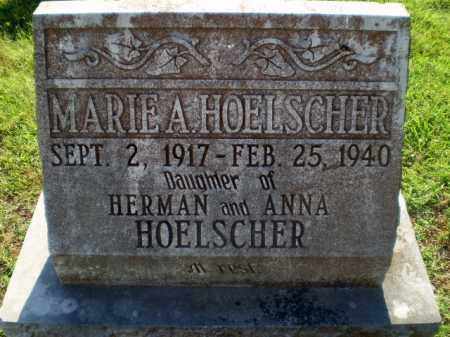 HOELSCHER, MARIE A - Greene County, Arkansas   MARIE A HOELSCHER - Arkansas Gravestone Photos