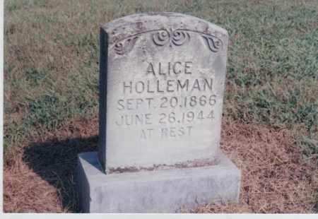 HOLLEMAN, ALICE - Greene County, Arkansas | ALICE HOLLEMAN - Arkansas Gravestone Photos