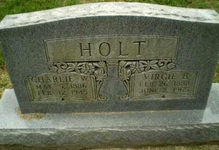 HOLT, CHARLIE W - Greene County, Arkansas | CHARLIE W HOLT - Arkansas Gravestone Photos