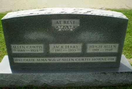 HORNE, ALLEN CURTIS - Greene County, Arkansas | ALLEN CURTIS HORNE - Arkansas Gravestone Photos