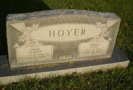 HOYER, ALBERT - Greene County, Arkansas | ALBERT HOYER - Arkansas Gravestone Photos
