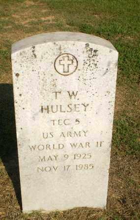 HULSEY  (VETERAN WWII), T.W. - Greene County, Arkansas   T.W. HULSEY  (VETERAN WWII) - Arkansas Gravestone Photos