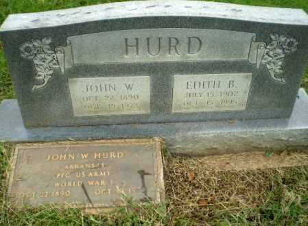 HURD  (VETERAN WWI), JOHN W - Greene County, Arkansas | JOHN W HURD  (VETERAN WWI) - Arkansas Gravestone Photos
