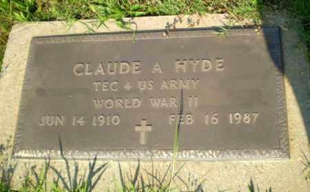 HYDE  (VETERAN WWII), CLAUDE A - Greene County, Arkansas | CLAUDE A HYDE  (VETERAN WWII) - Arkansas Gravestone Photos