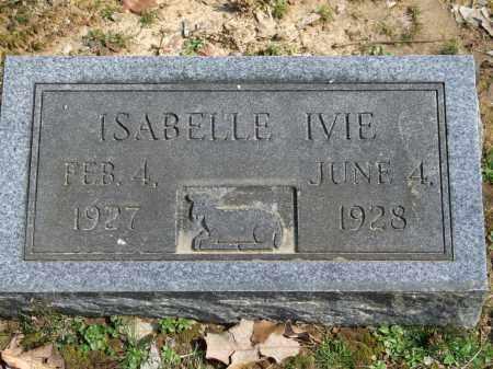 IVIE, ISABELLE - Greene County, Arkansas   ISABELLE IVIE - Arkansas Gravestone Photos