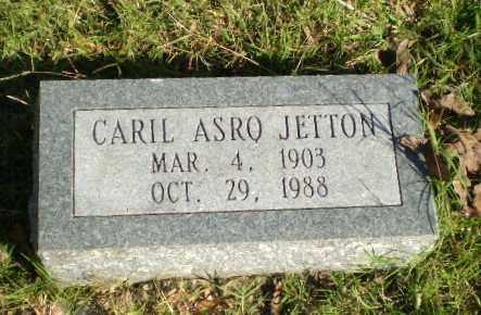 JETTON, CARIL ASRO - Greene County, Arkansas   CARIL ASRO JETTON - Arkansas Gravestone Photos