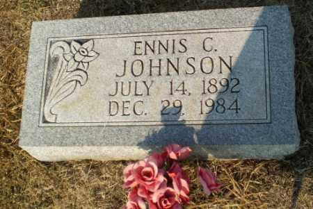 JOHNSON, ENNIS C - Greene County, Arkansas   ENNIS C JOHNSON - Arkansas Gravestone Photos