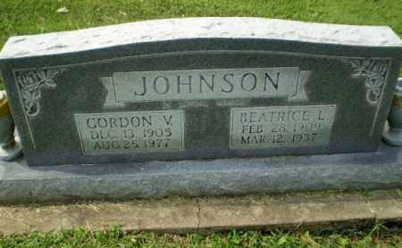 JOHNSON, GORDON V - Greene County, Arkansas | GORDON V JOHNSON - Arkansas Gravestone Photos