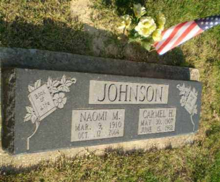JOHNSON (VETERAN WWII), CARMEL H - Greene County, Arkansas   CARMEL H JOHNSON (VETERAN WWII) - Arkansas Gravestone Photos