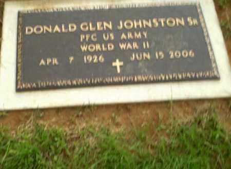 JOHNSTON, SR  (VETERAN WWII), DONALD GLEN - Greene County, Arkansas | DONALD GLEN JOHNSTON, SR  (VETERAN WWII) - Arkansas Gravestone Photos