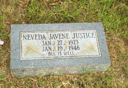 JUSTICE, NEVEDA JAVENE - Greene County, Arkansas | NEVEDA JAVENE JUSTICE - Arkansas Gravestone Photos